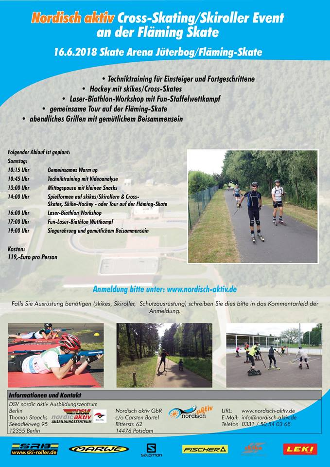 Flyer Cross-Skating / Skiroller Event Flmingskate 2018
