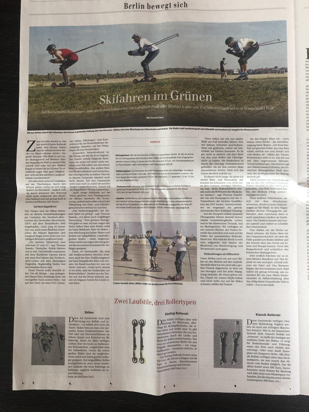 nordisch aktiv Berliner Zeitung Skiroller Cross skating